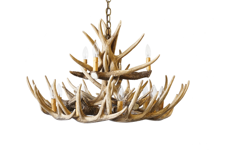 Whitetail Deer 15 Antler Chandelier Cast Horn Designs