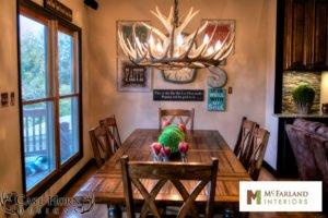 dining room antler chandelier