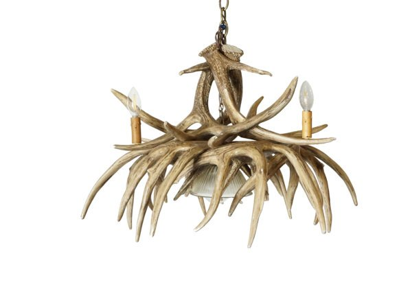 Whitetail Deer 9 Large Antler Chandelier