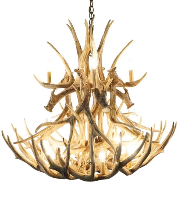Mule deer 20 antler chandelier cast horn designs mule deer 20 antler chandelier aloadofball Choice Image
