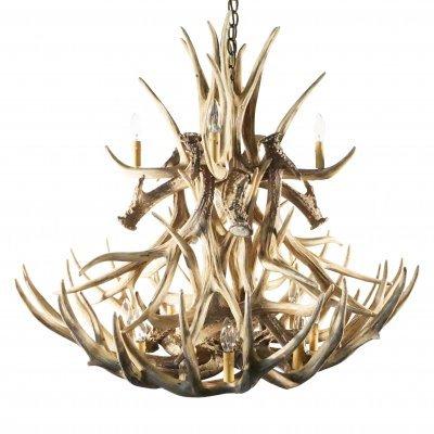 mule deer 20 antler chandelier
