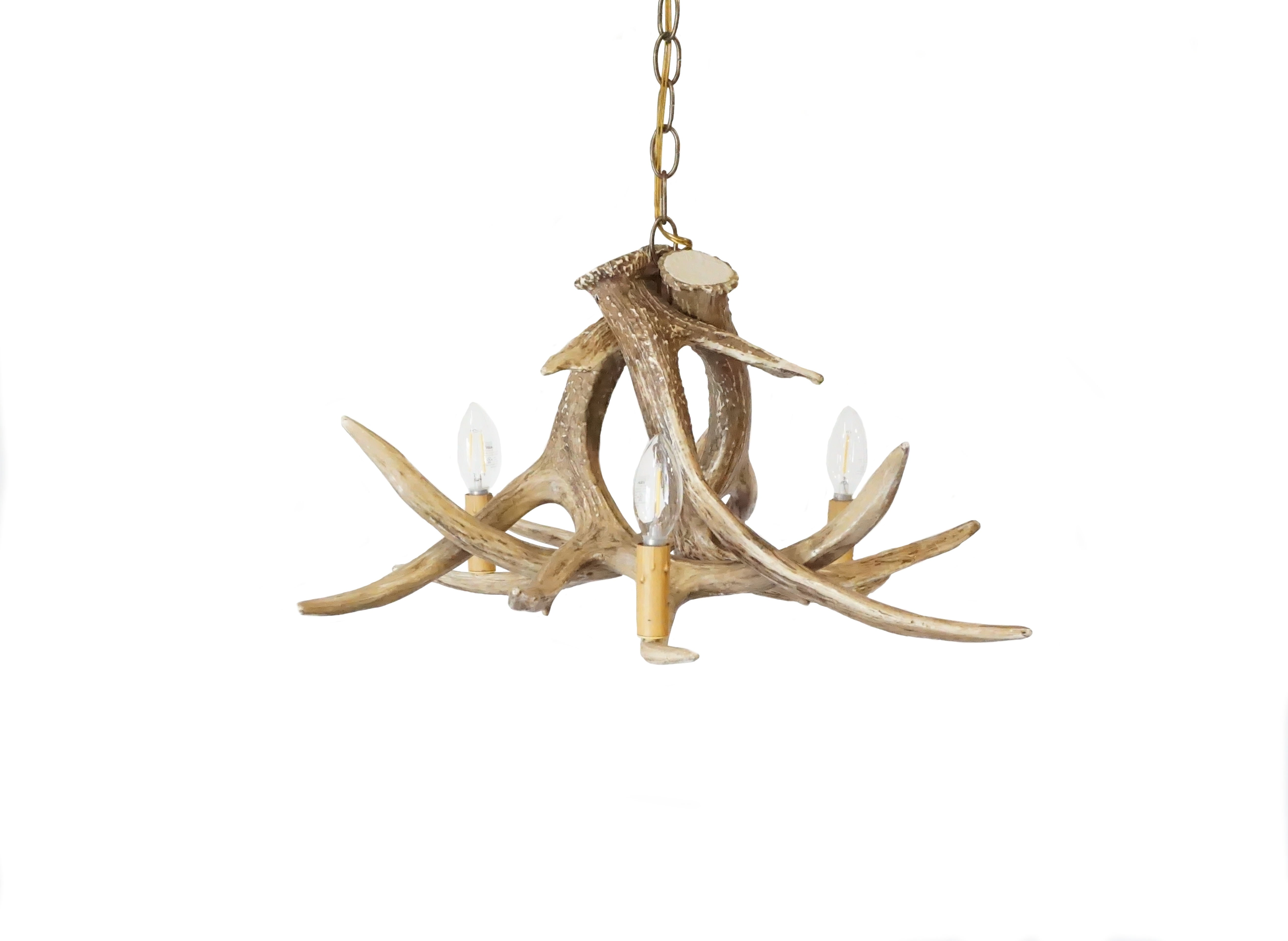 Whitetail Deer 3 Antler Chandelier Cast Horn Designs