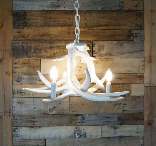 whiteout whitetail deer chandelier