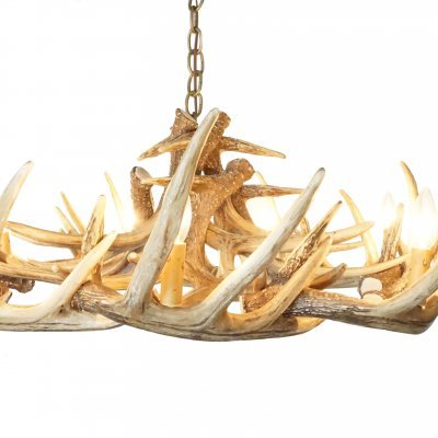 Whitetail Deer Wide Antler Chandelier