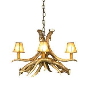 mule deer 4 faux antler chandelier