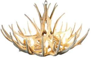 mule deer antler chandelier