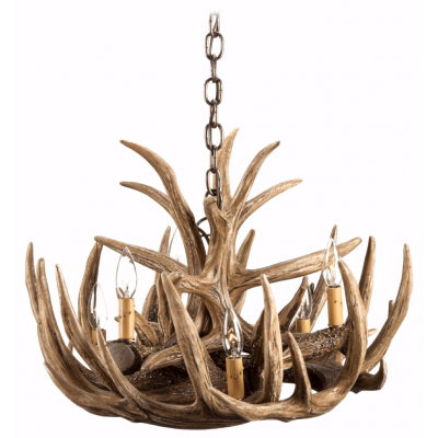 whitetail 9 antler chandelier product image