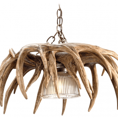 whitetail 6 antler chandelier profile image