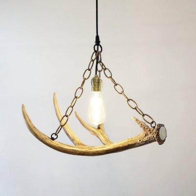 Single Mule Deer Antler Pendant