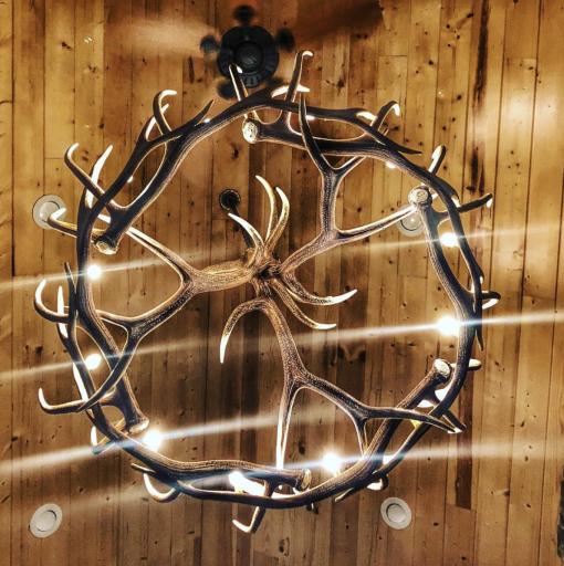 elk antler chandelier