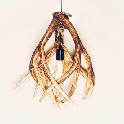 antler pendant without cage